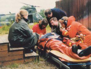 Den första kursen till ambulanssjuksköterska i Lund startade hösten 1998 och slutade vecka 44, 1999. Foto: Christer Carlsson.